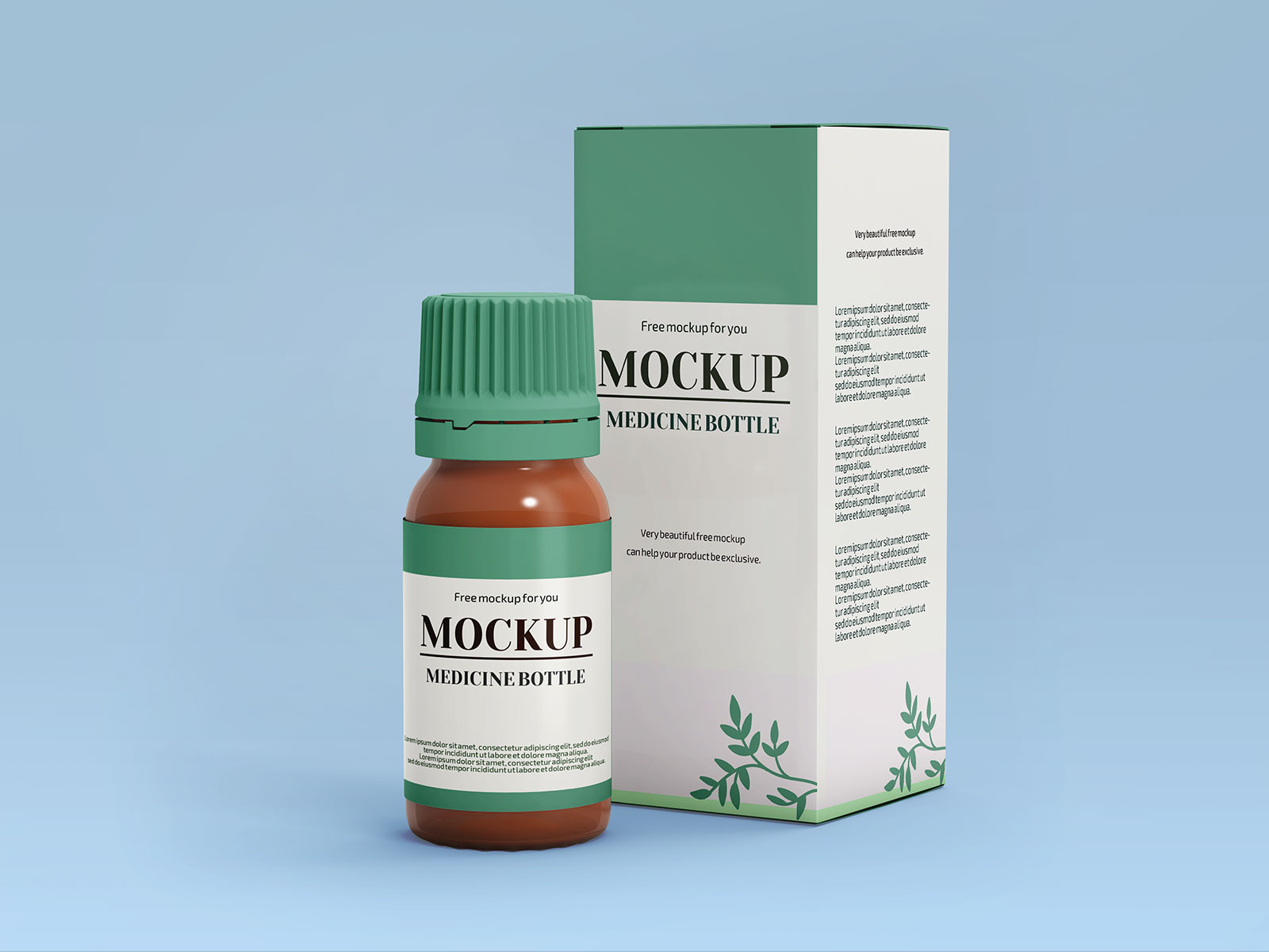 Free-Glass-Pill-Bottle-&-Packaging-Mockup-PSD-Set-2