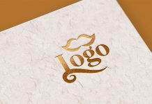 Free-Gold-Foil-Logo-Mockup-On-Textured-Card