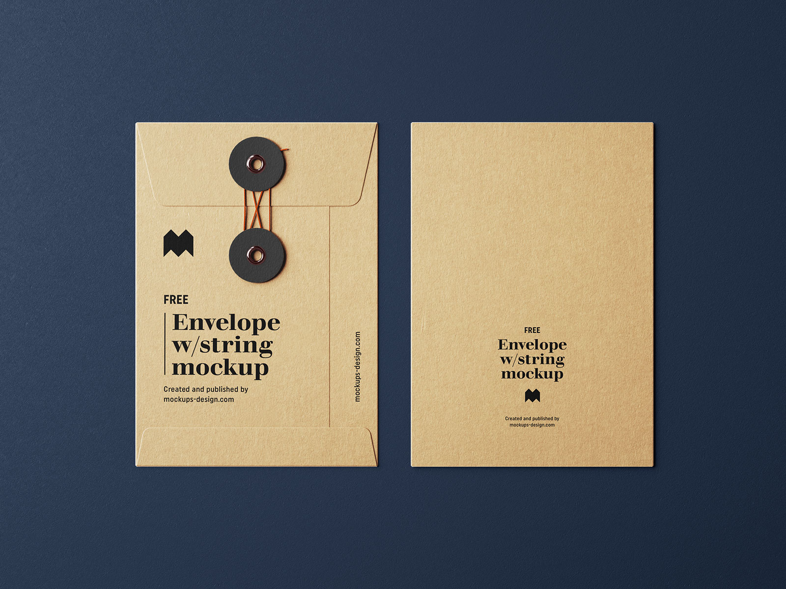 Free Kraft Paper String Envelope Mockup PSD Set (1)