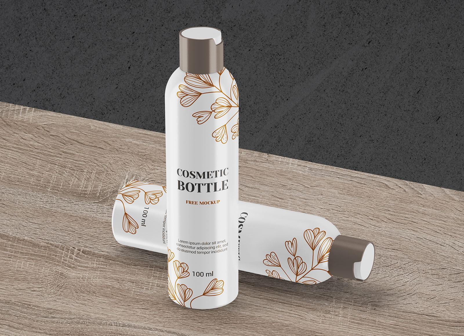 Free Perfume Deodorant Spray Bottle Mockup PSD Set (1)