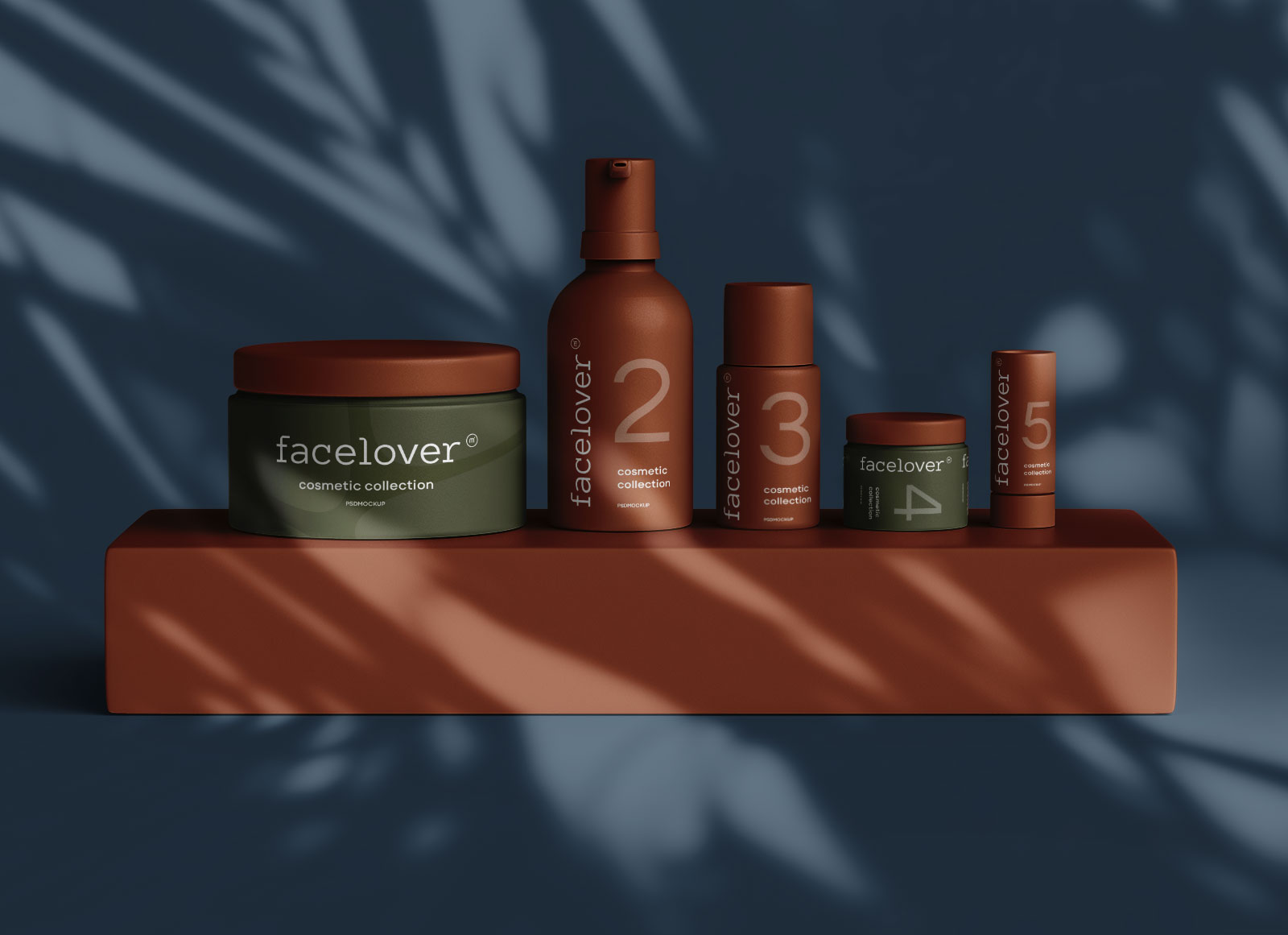Free Premium Cosmetic Bottle & Jars Mockup PSD