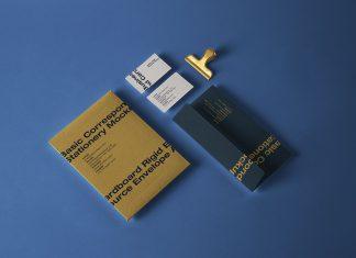Free Business Card & Mailing Envelope Mockup PSD