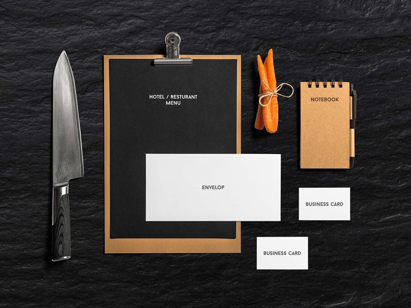 Free-Food-Branding-Stationery-Mockup-PSD-File