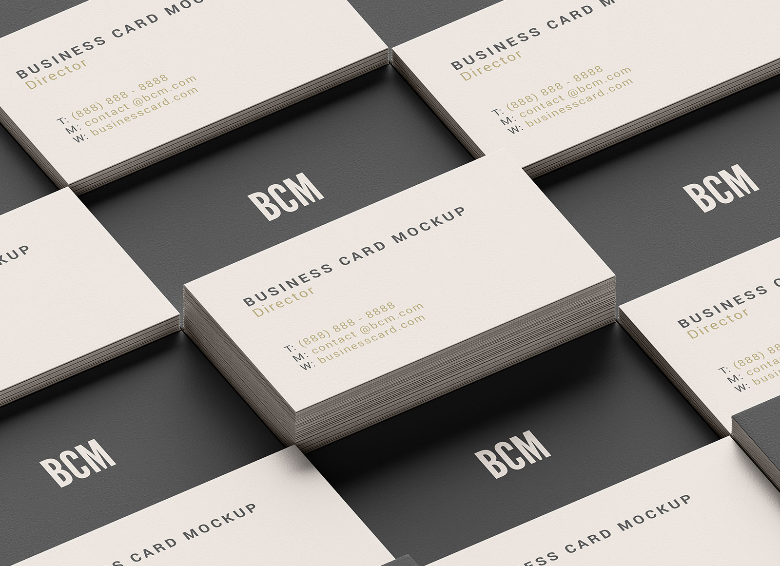 Free Grid Style Business Card Mockup PSD