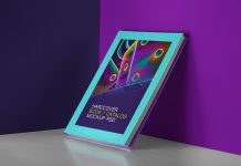 Free Hardcover Book / Catalog Cover Mockup PSD