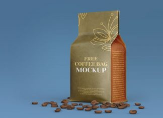 Free-Kraft-Coffee-Bag-Packaging-Mockup-PSD-Set