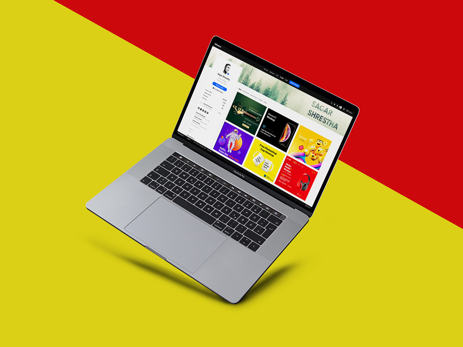 Free Laptop MacBook Pro Mockup PSD Set (1)
