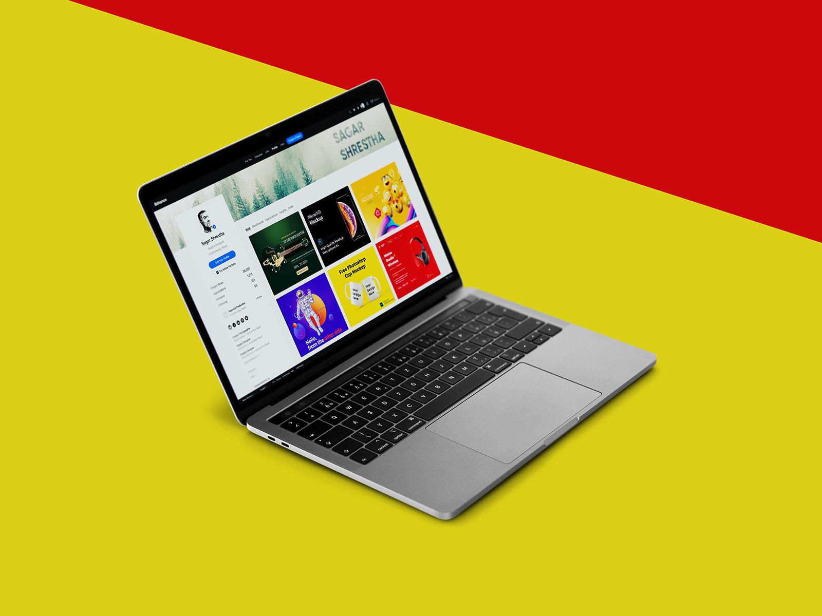 Free Laptop MacBook Pro Mockup PSD Set (1)