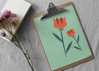 Free Paper Clipboard Mockup PSD