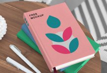 Free-Books-On-Table-Mockup-PSD