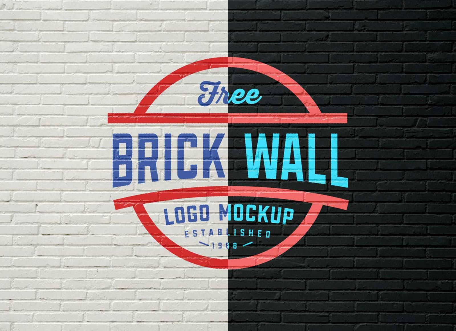 Free Brick Wall Logo Mockup Psd Good Mockups