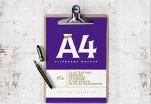 Free-Clipboard-A4-Size-Paper-Flyer-mockup-PSD