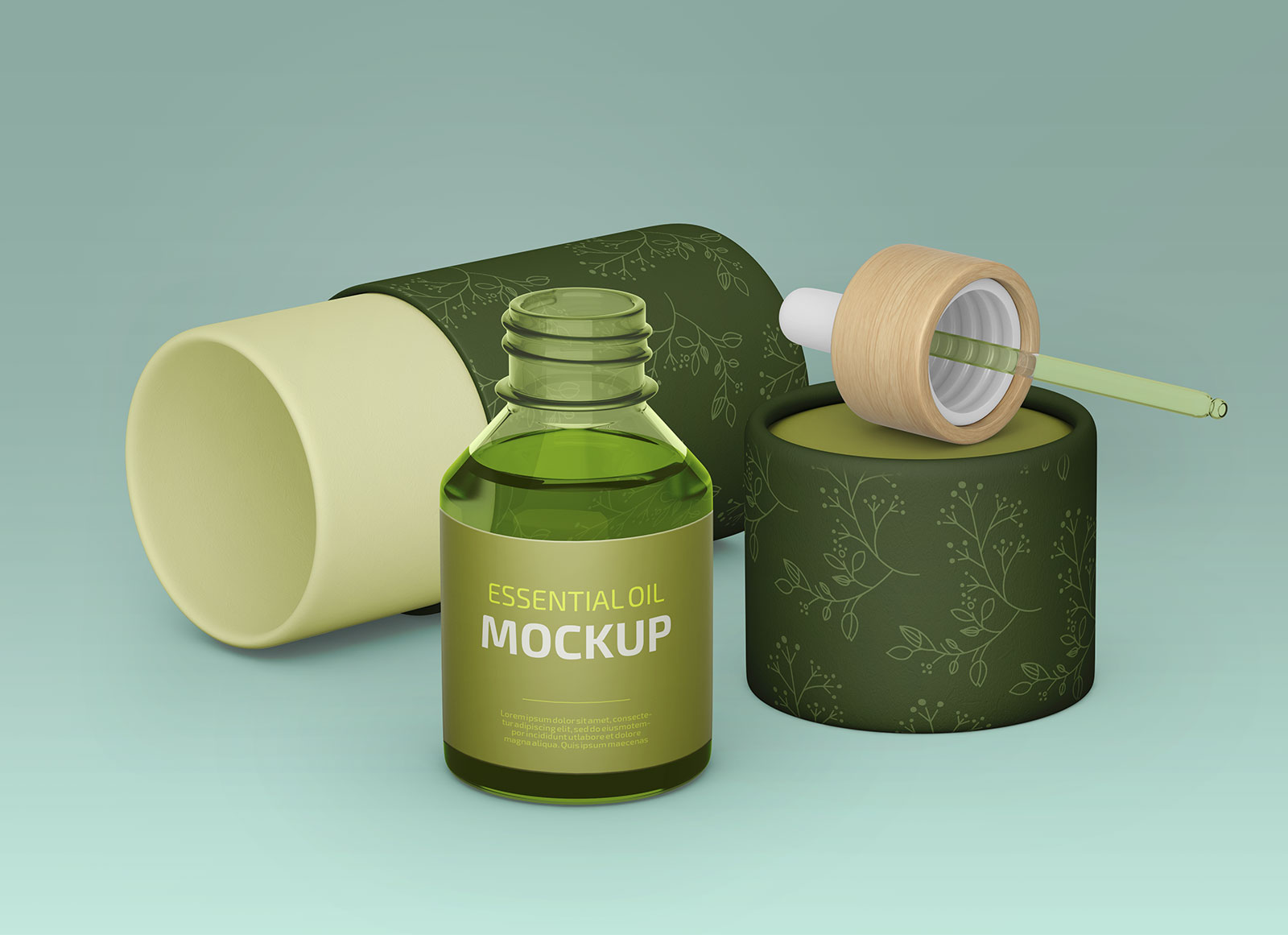 Free-Essential-Oil-Bottle-With-Tube-Packaging-Mockup-PSD-Set