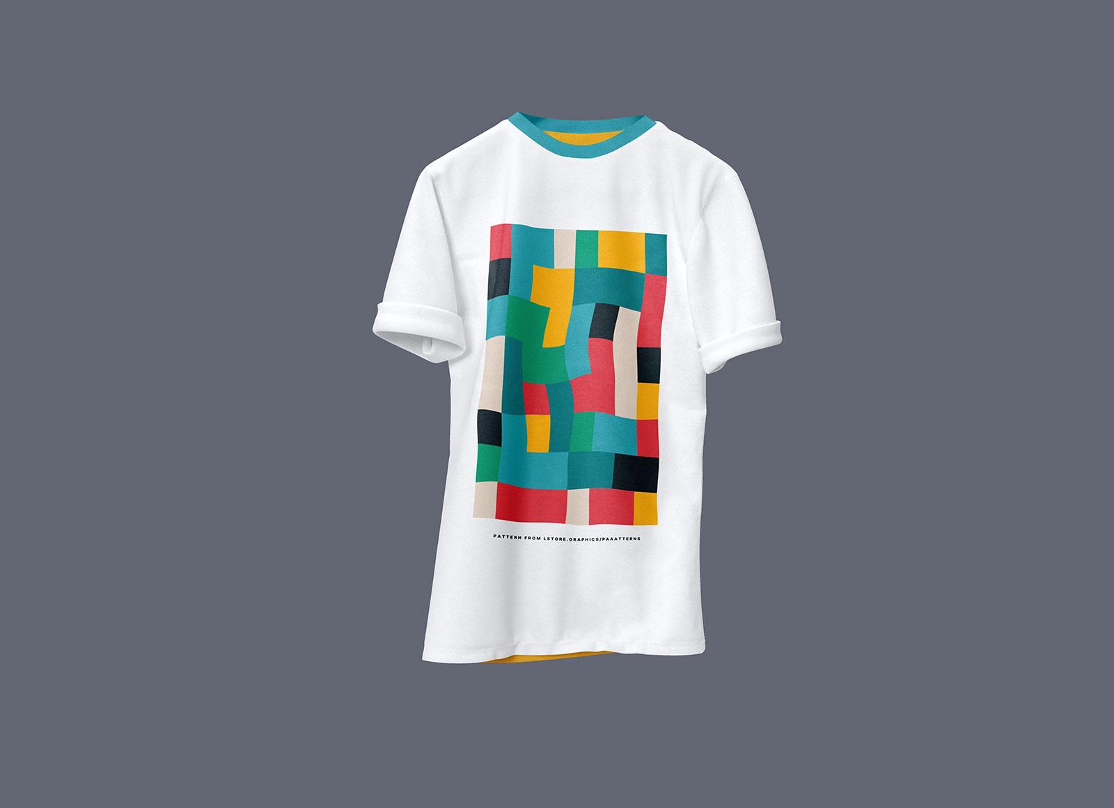 Free Half Sleeves Rounded Neck White T Shirt Mockup Psd Good Mockups