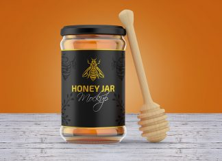 Free-Honey-Jar-Mockup-PSD-Set-2
