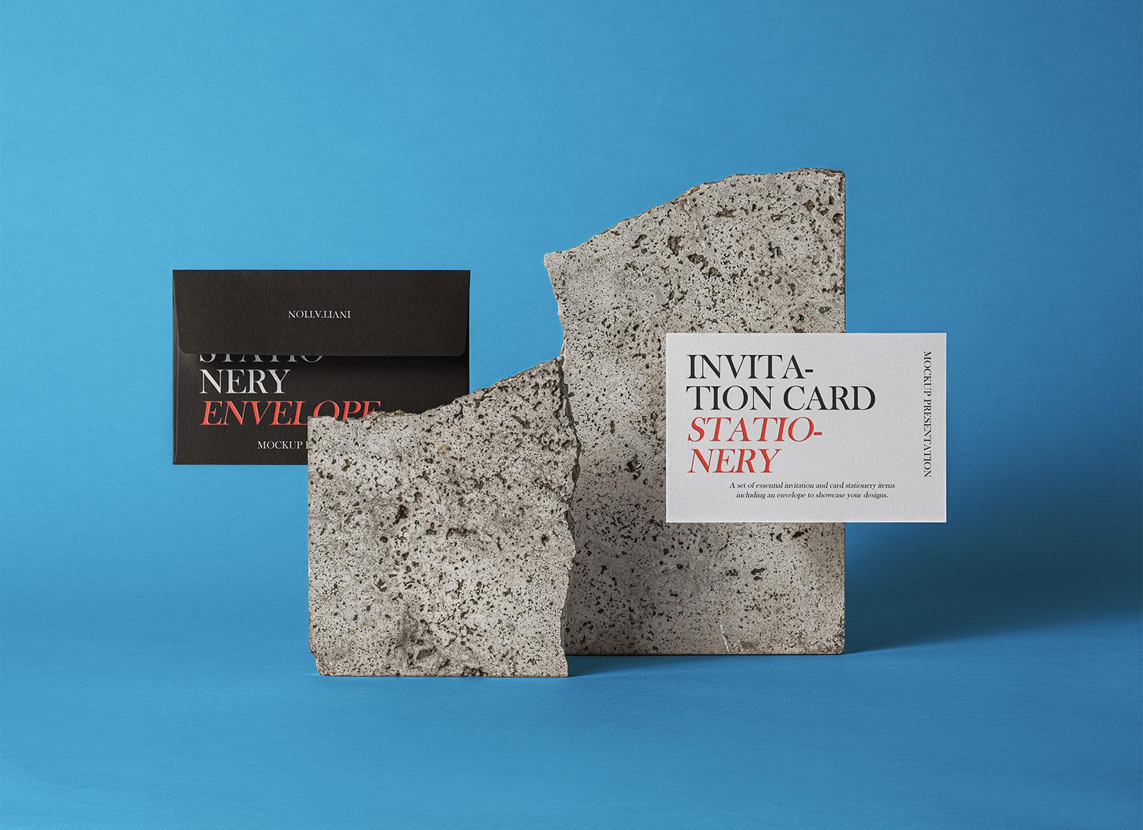 Free-Invitation-Card-&-Envelop-Presentation-Mockup-PSD