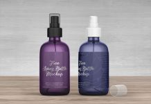Free Plastic Spray Bottle Mockup PSD Set (1)