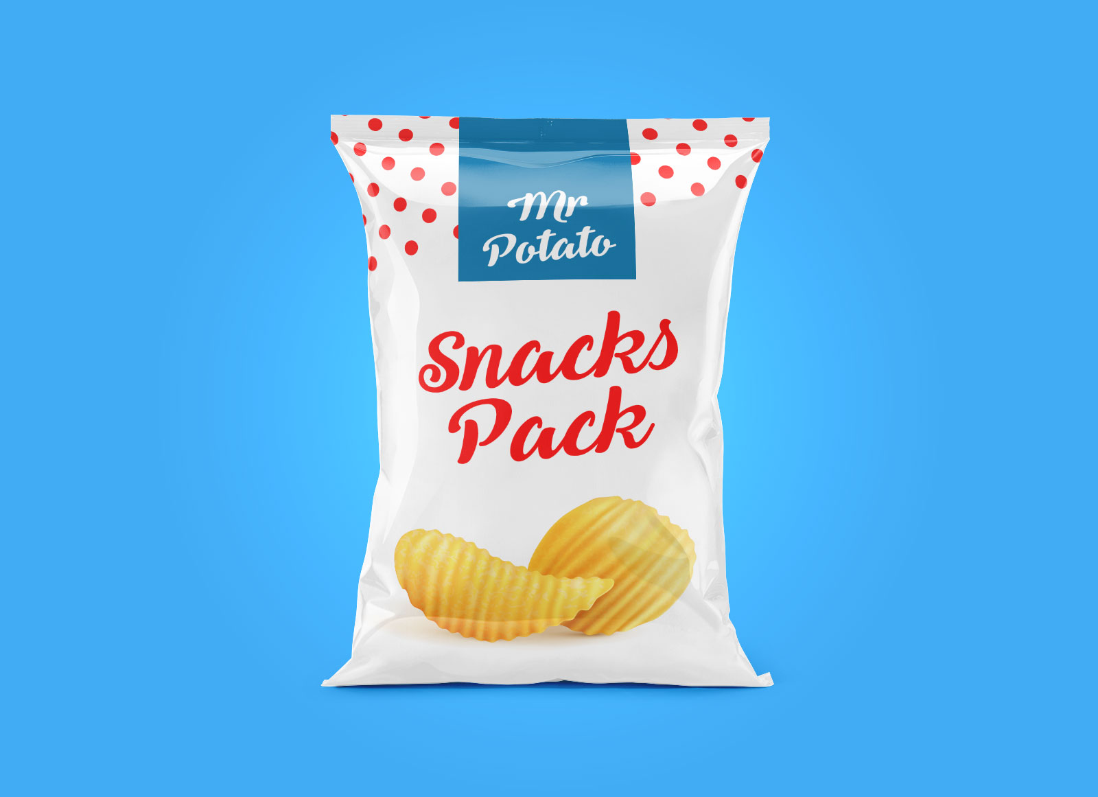 Free Metallic Snack Package Mockups