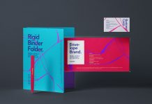 Free Rigid Binder, Envelope & Business Card Mockup PSD