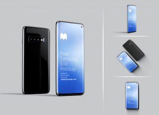 Free-Samsung-Galaxy-S10-Mockup-PSD-Set