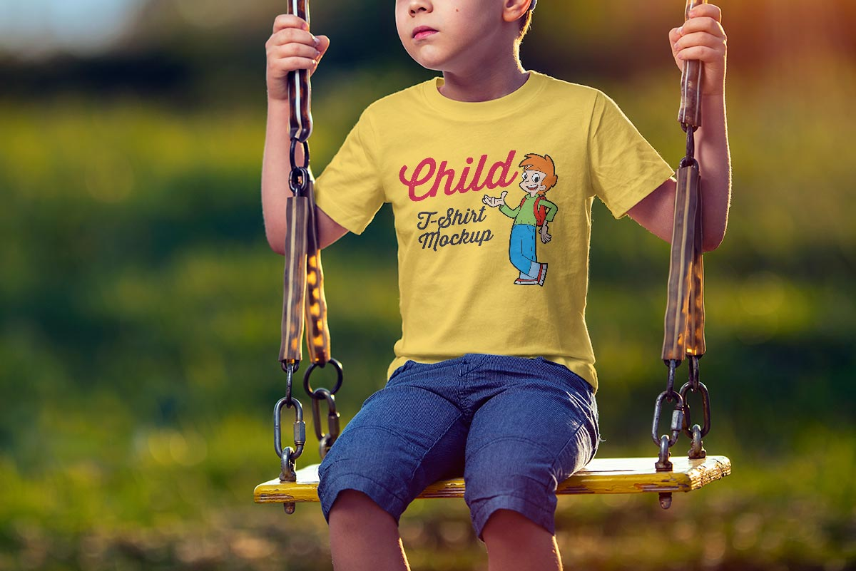 Free-Short-Sleeves-Child-T-Shirt-Mockup-PSD-2
