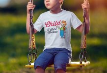 Free-Short-Sleeves-Child-T-Shirt-Mockup-PSD