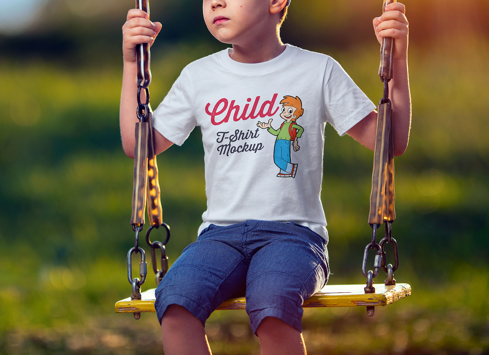 Free-Short-Sleeves-Child-T-Shirt-Mockup-PSD