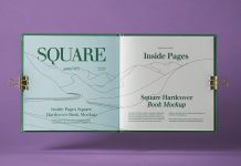 Free Inner Pages Square Hardcover Catalog / Book Mockup PSD