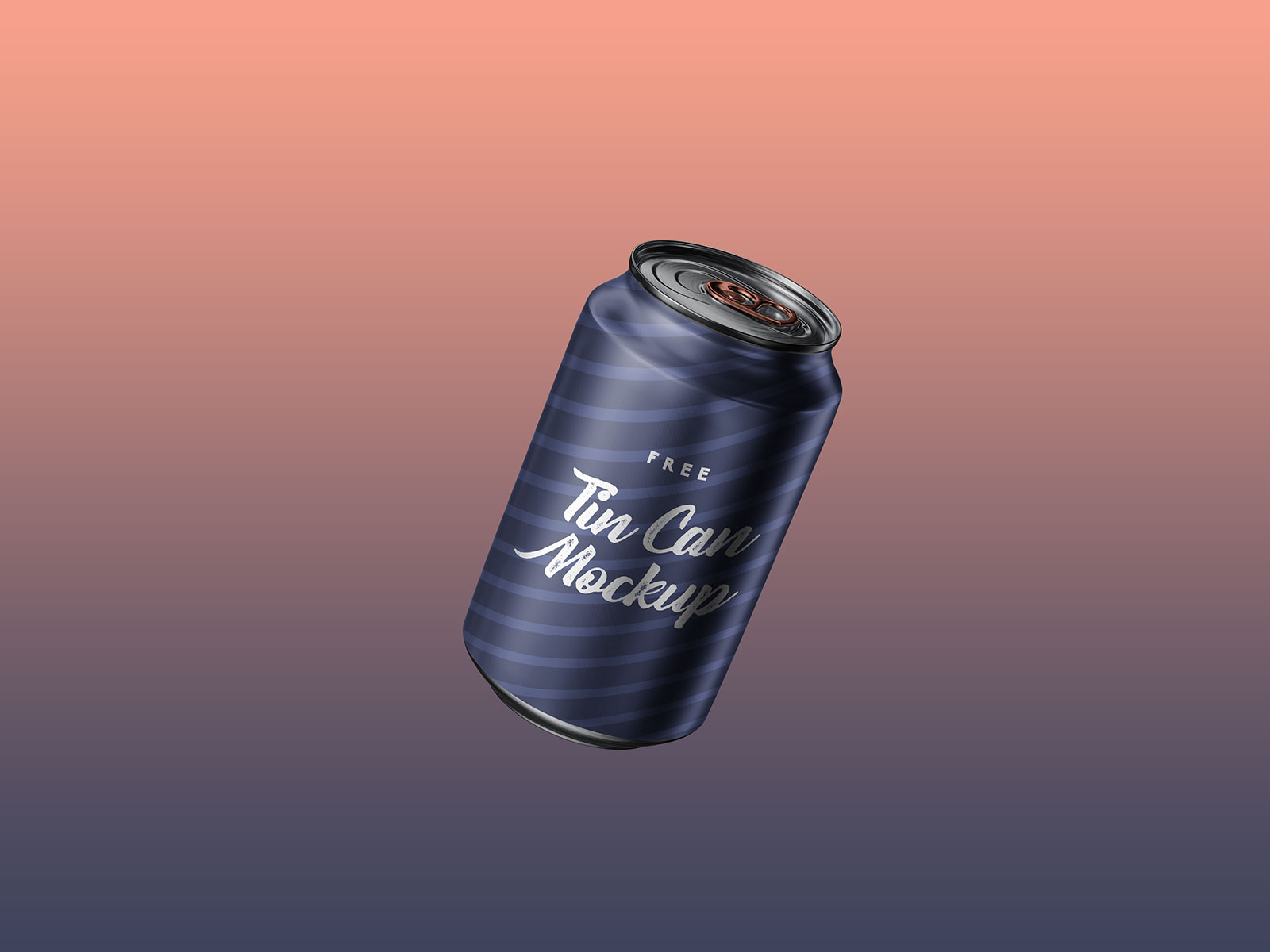 Free 500ml Beverage Tin Can Mockup PSD Set