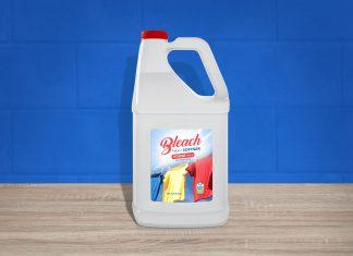 Free-Bleach-Fabric-Softener-White-Plastic-Bottle-Mockup-PSD