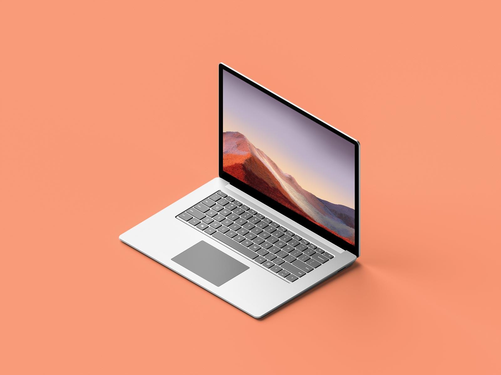 Free-Isometric-Microsoft-Surface-Laptop-Mockup-PSD-File