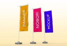 Free-Nobori-Flag-Pole-Hanging-Banner-Mockup-PSD