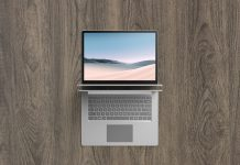 Free-Top-View-Microsoft-Surface-Laptop-2-Mockup-PSD