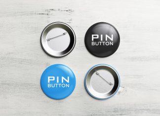 Free Pin-Back Button Badge Mockup PSD Set