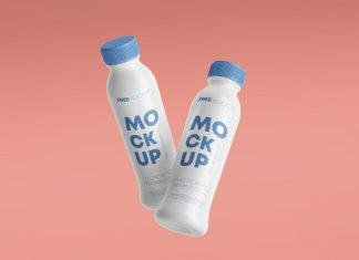Free-Floating-Plastic-Bottle-Mockup-PSD-Set