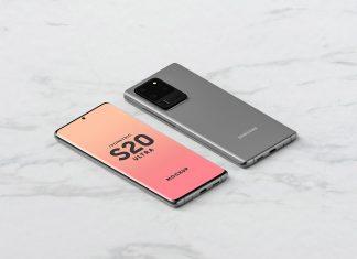 Free-Front-Back-Isometric-Samsung-Galaxy-S20-Ultra-Mockup-PSD