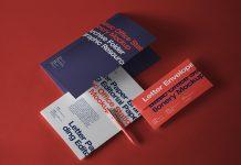 Free Letterhead, Envelope & Folder Mockup PSD