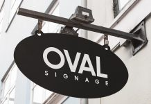 Free-Oval-Shape-Wall-Mounted-Hanging-Sign-Mockup-PSD