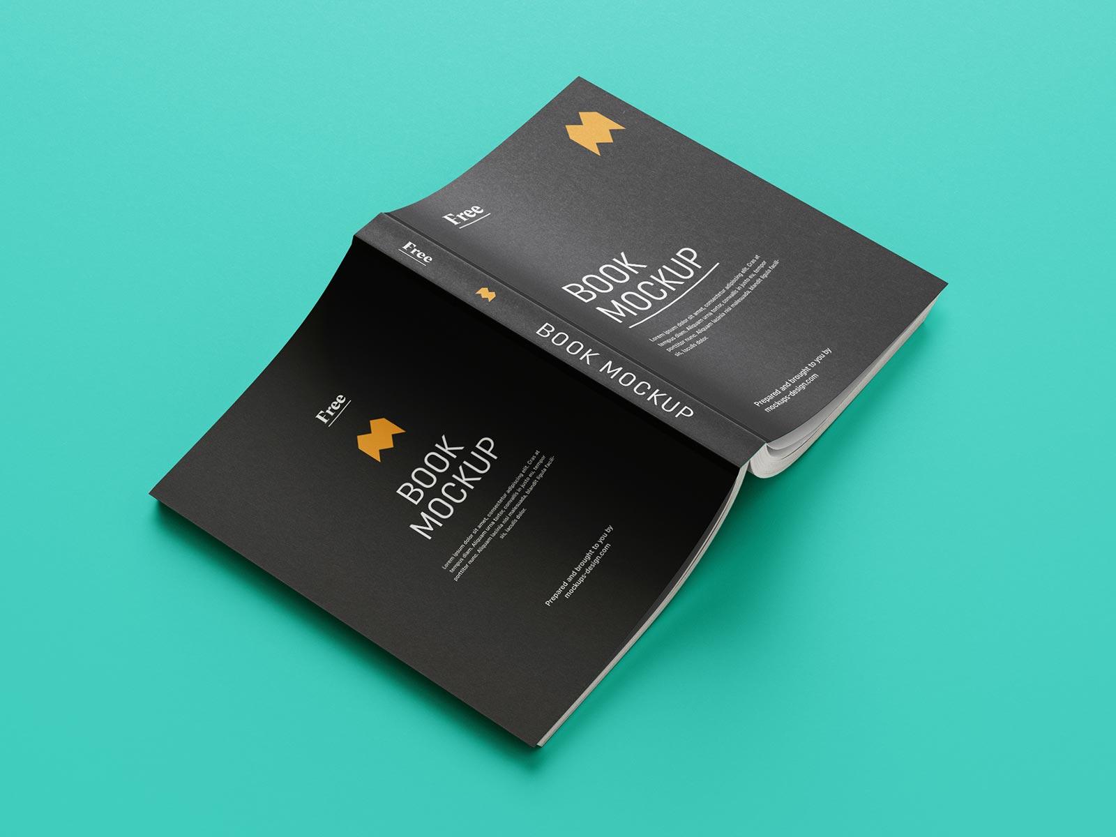 Free Paperback Book Mockup PSD Set (8 PSD Renders) (1)