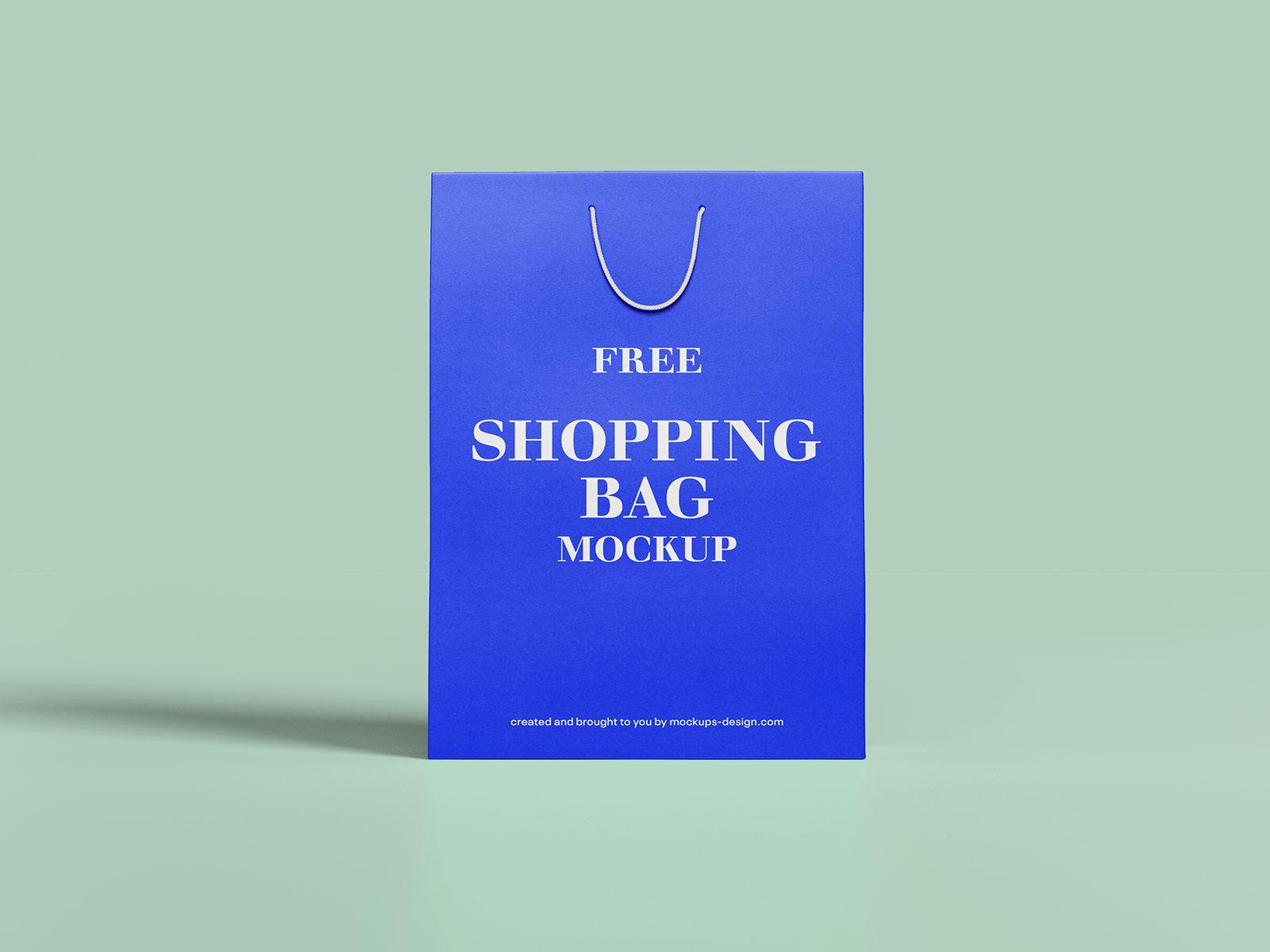 Free Thick Paper Shopping Bag Mockup PSD Set (1)