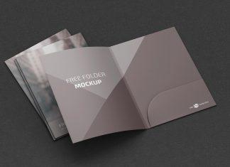 Free A4 Folder Mockup PSD Set