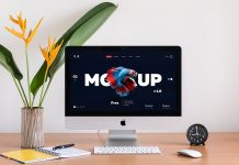 Free-Apple-iMac-With-Two-Backgrounds-Mockup-PSD
