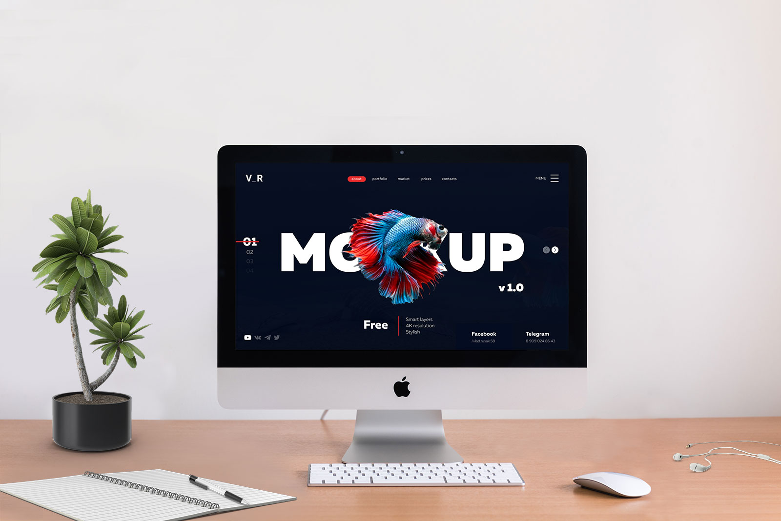 Free-Apple-iMac-With-Two-Backgrounds-Mockup-PSD-File