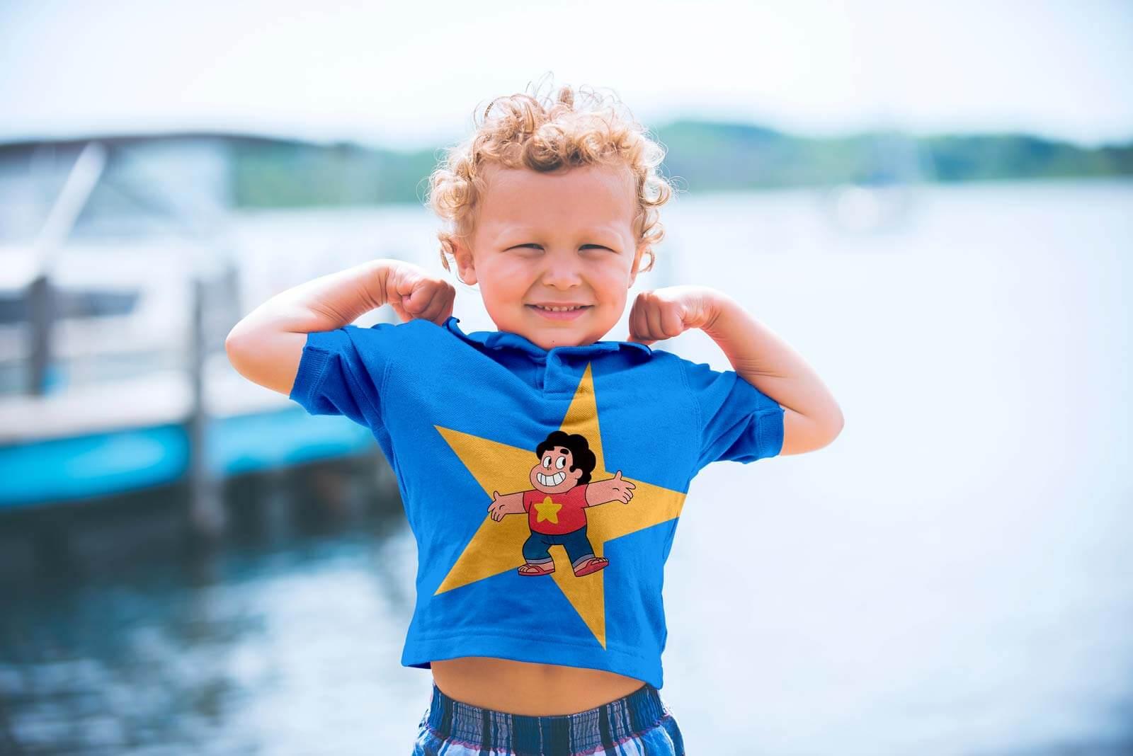 Free-Child-T-Shirt-Mockup-PSD