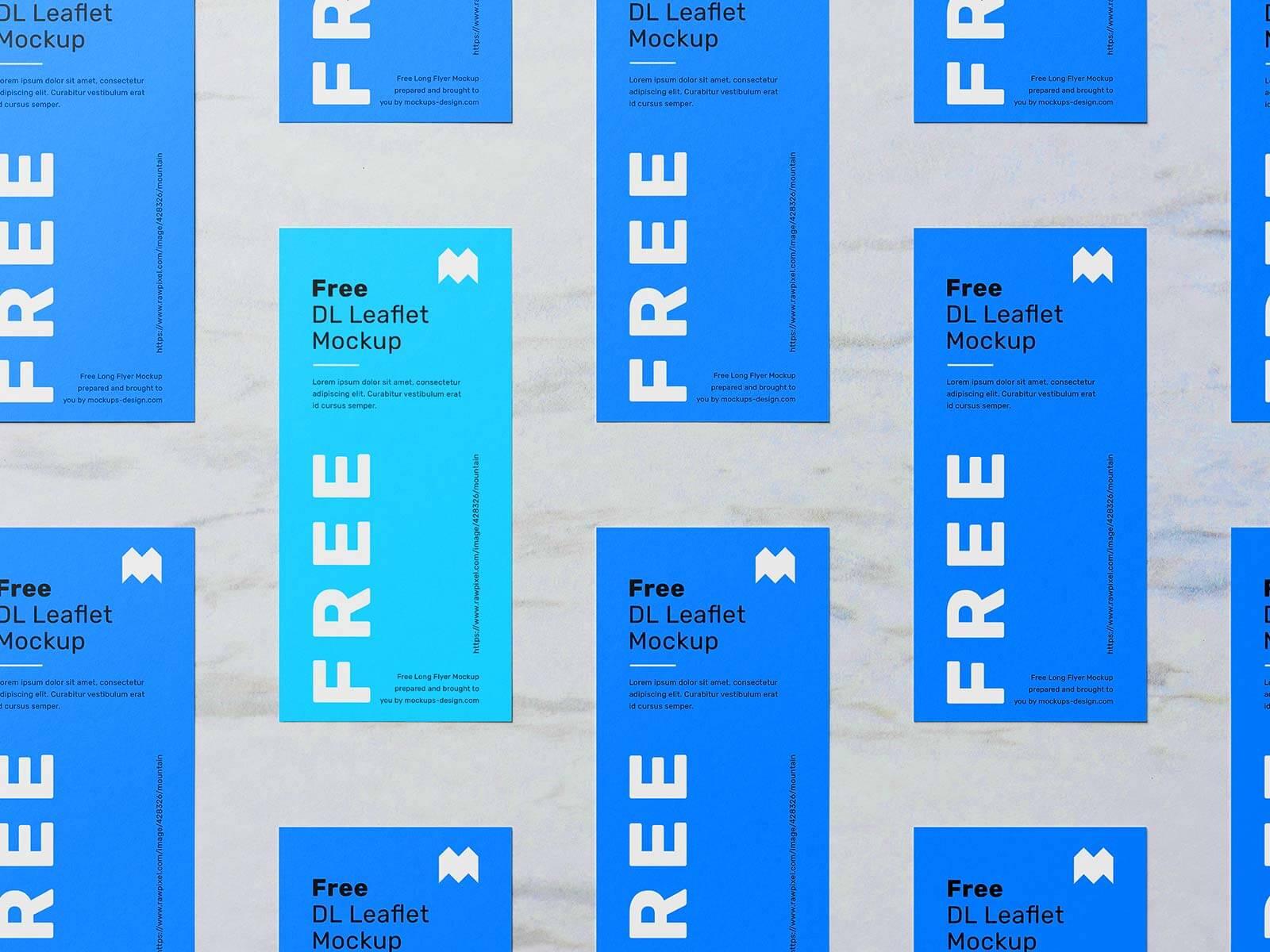 Free DL Leaflet Flyer Grid Mockup PSD (1)