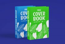 Free Hardcover Book Title Mockup PSD Set (1)