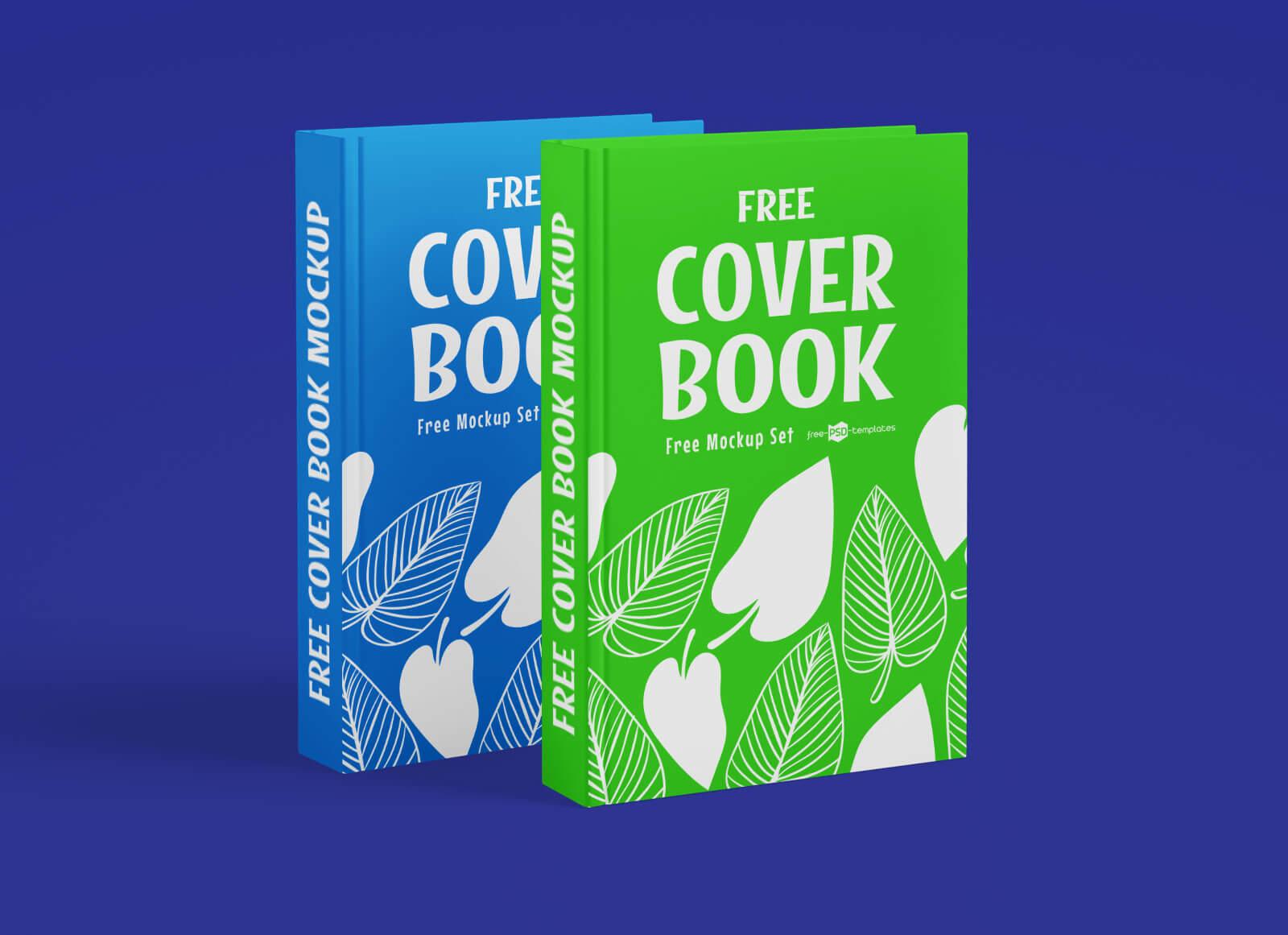Free Hardcover Book Title Mockup PSD Set (1)