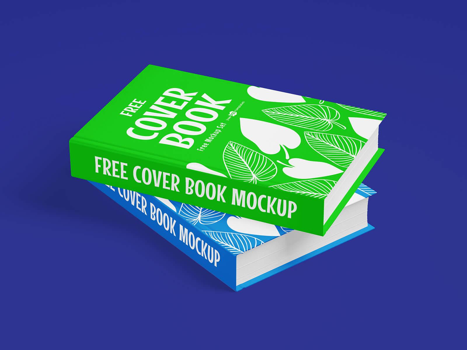 Free Hardcover Book Title Mockup PSD Set (2)