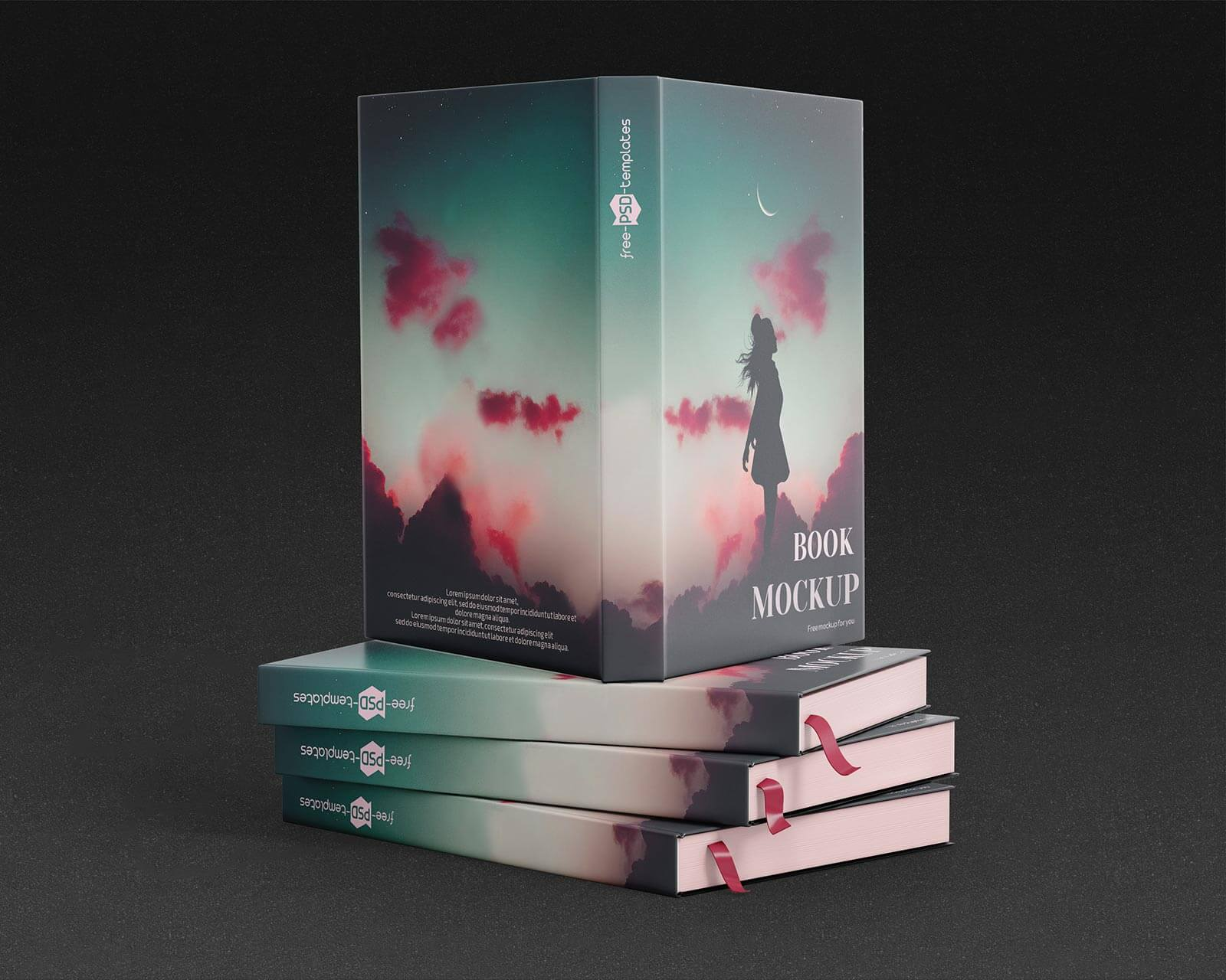 Free Hardcover Title & Inner Pages Mockup PSD Set (1)