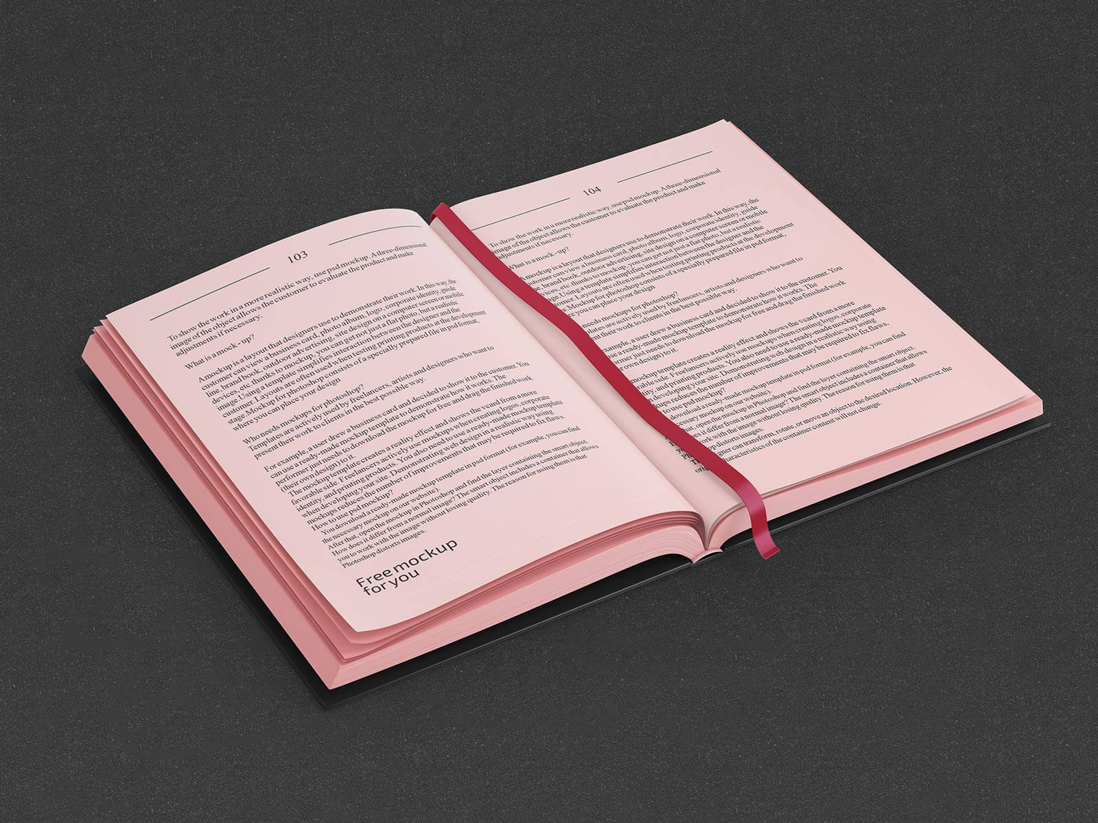 Free Hardcover Title & Inner Pages Mockup PSD Set (2)